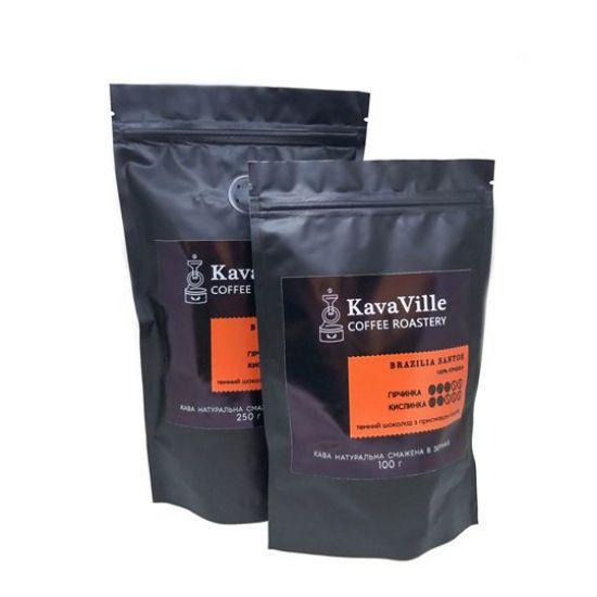 Зображення Кава натуральна BRAZILIA SANTOS, 100 грамів