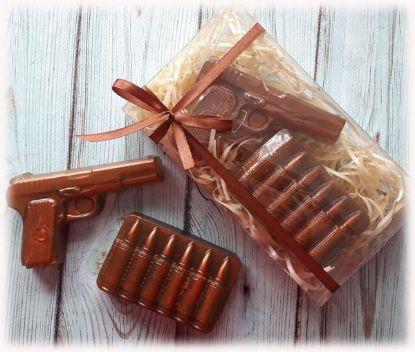 """Изображение Набор мыла """"Пистолет и патроны"""""""