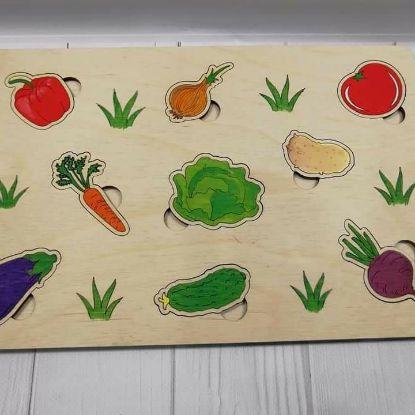 """Зображення Вкладиші """"Овочі"""""""