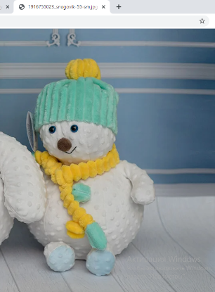 Зображення Мягкая игрушка «Снеговик» (1)