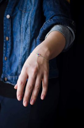 Изображение Браслет с цветной каплей
