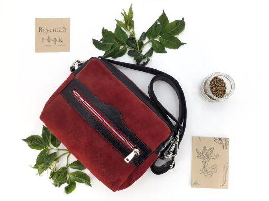 """Изображение Женская кожаная сумка на пояс """"Кориандр"""""""