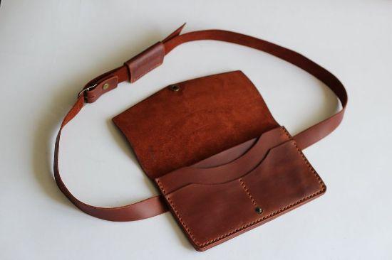 Зображення Жіноча шкіряна поясна сумка \ сумка через плече