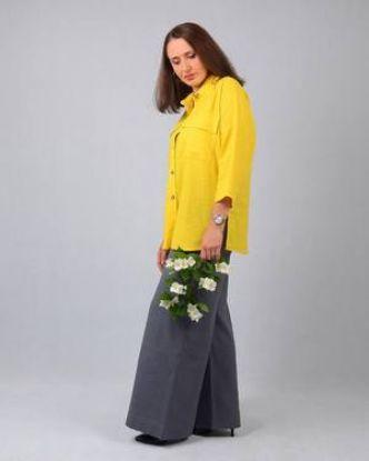 Зображення Льняна жіноча блуза