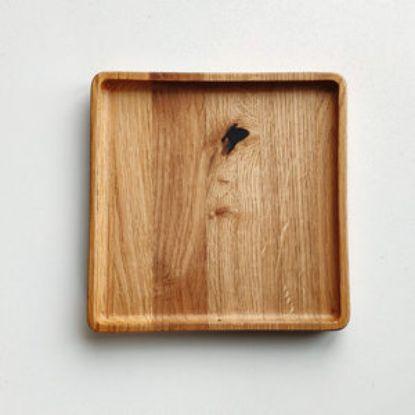 Зображення Тарілка квадратна з дуба