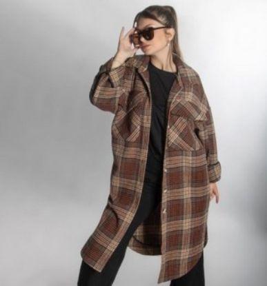 Изображение Рубашка-пальто удлиненная