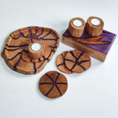 Зображення Комплект на б'юті-столик, фіолетовий